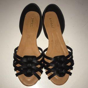 Bamboo Leona black sandles nwot size 10 women's